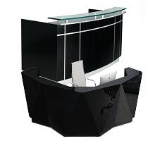 office black reception tables