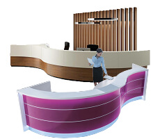 S-shaped Curved reception desks