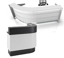 curved arc-shape office reception desk