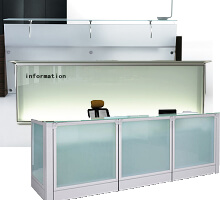 glass front & top front desks