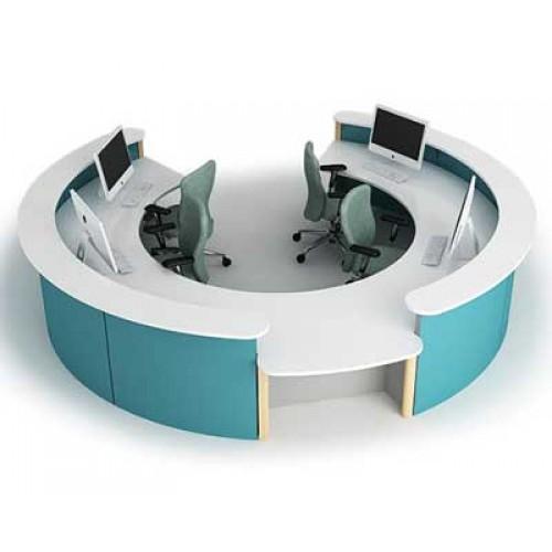 Rounded Circular Reception Desk