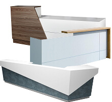 contemporary Modern style front counter