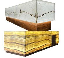 Translucent stone onyx reception desk