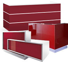 red front counters