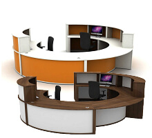 Large Round Reception Counters