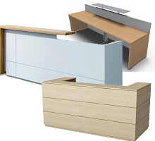 rectangular straight reception counter