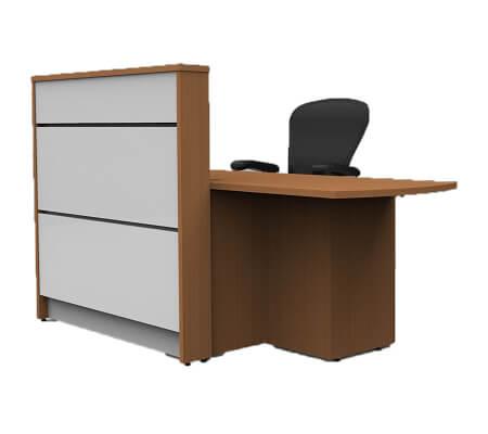 tall height standing reception desk