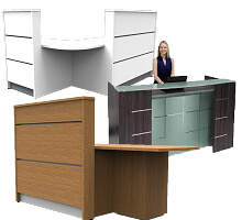 Tall height standing reception desks