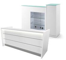 white color receptionist desks for salon decoration