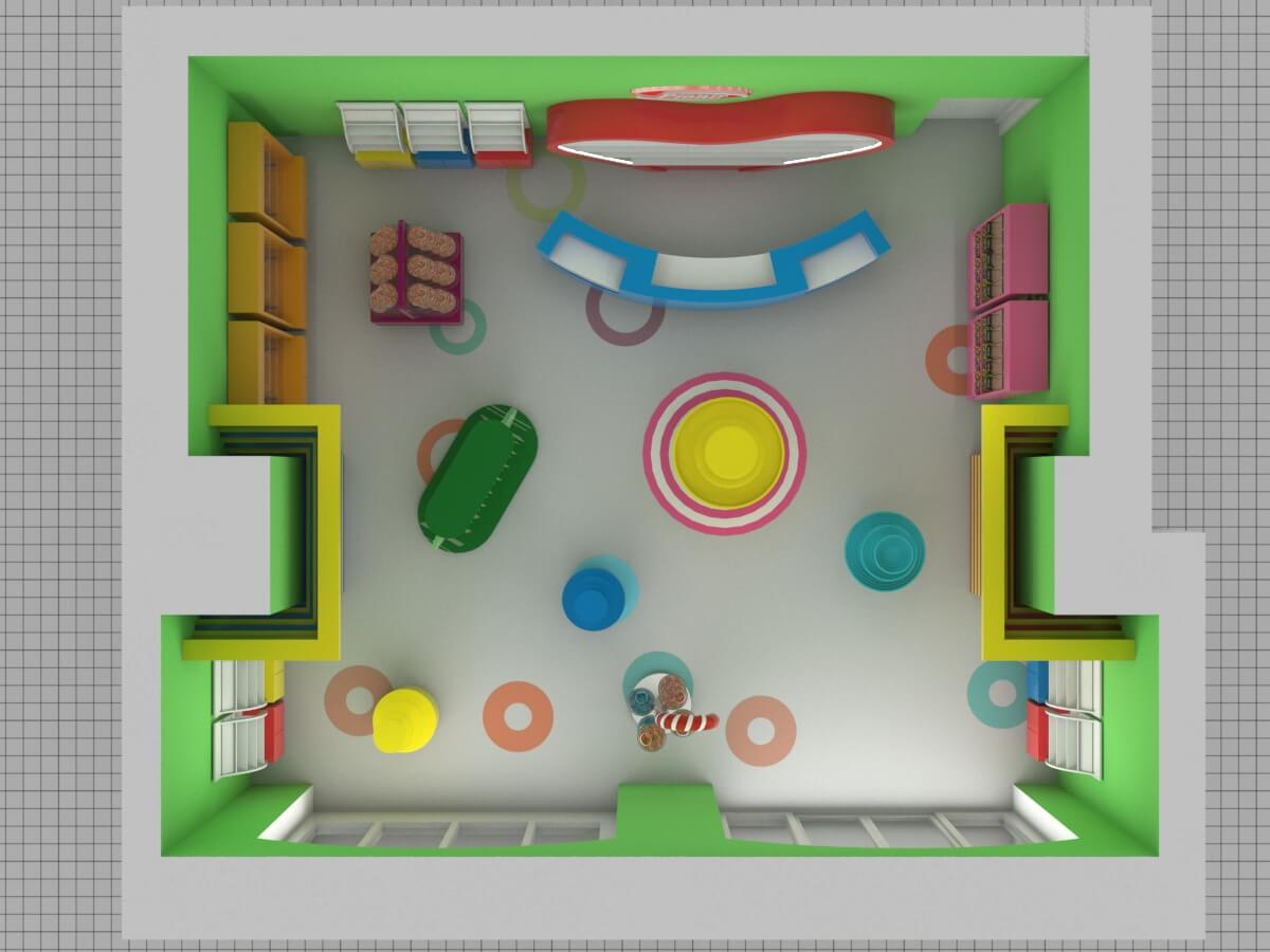 candy store layout