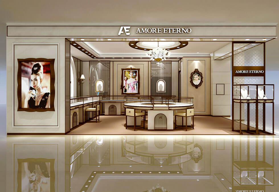 Jewelry Retail Booth Design In Mall