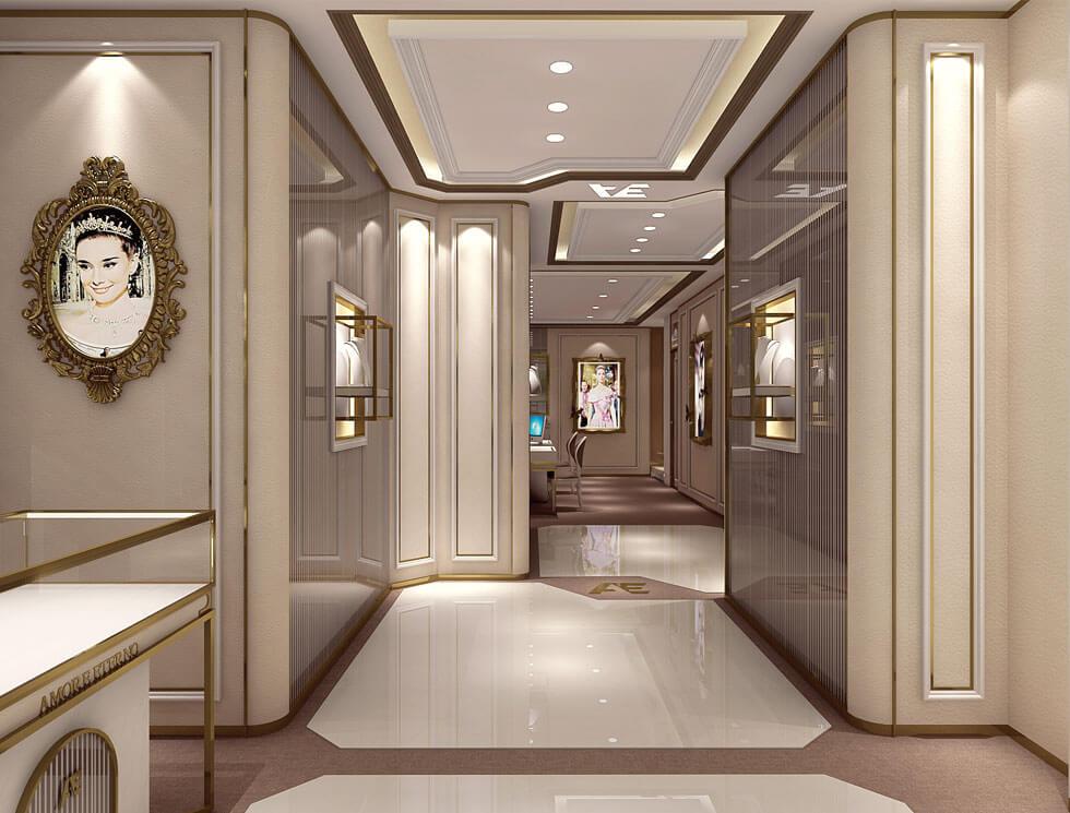 2-Storey Jewelry Store Interior Design