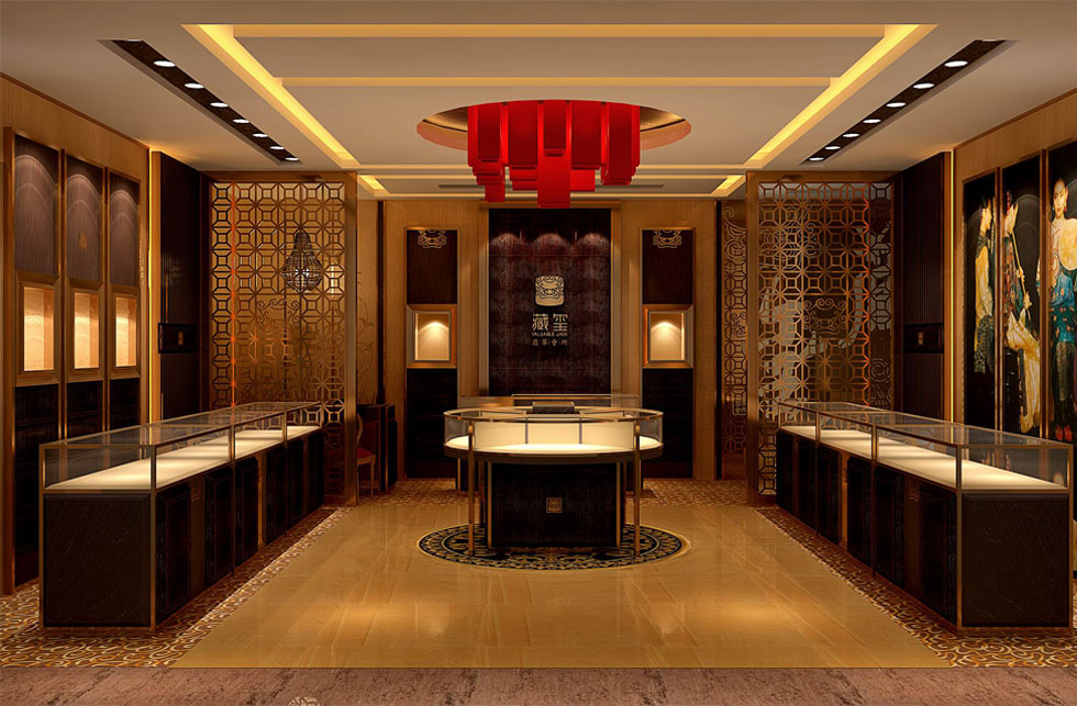 Chinese jewelry store design