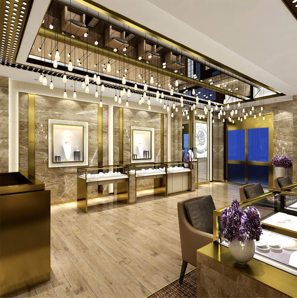 Diamond retail store design