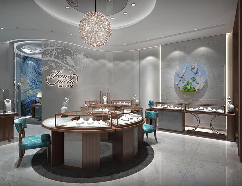 Fancy moon jewelry store design