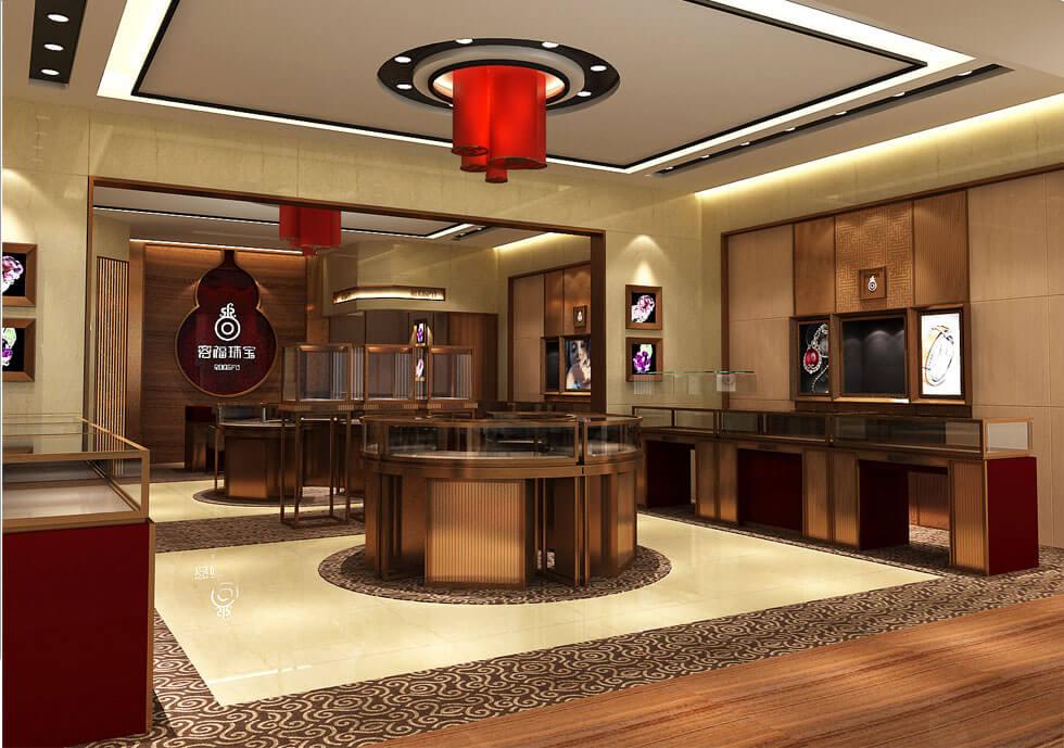 Golden Jewelry store Interior design