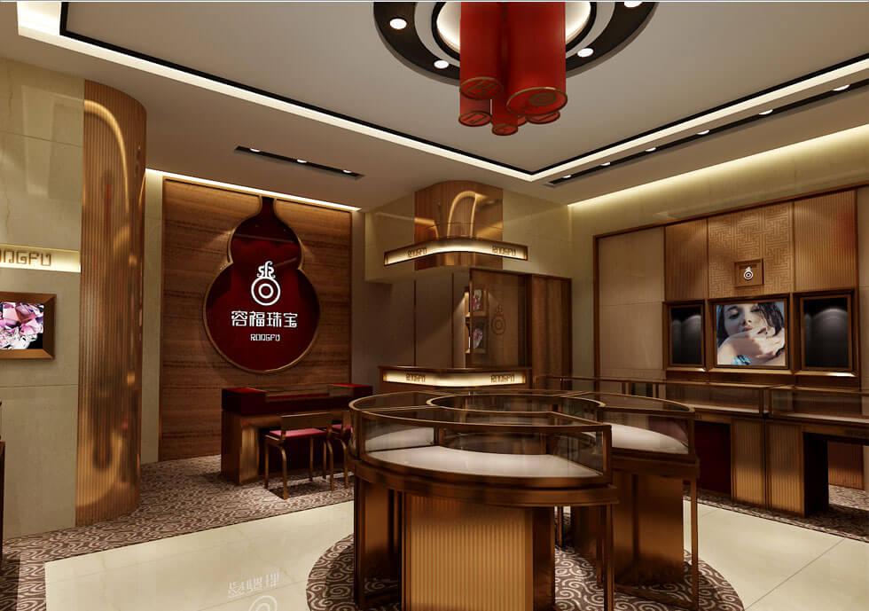 Golden Jewelry store resting area design