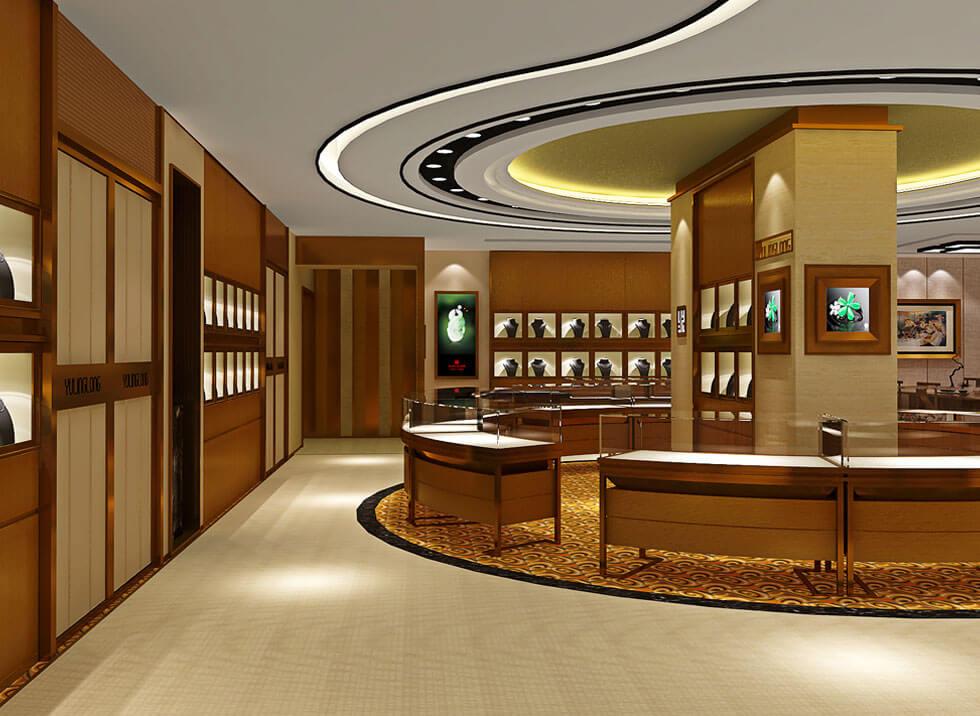 jewelry store design for jade nephritoid