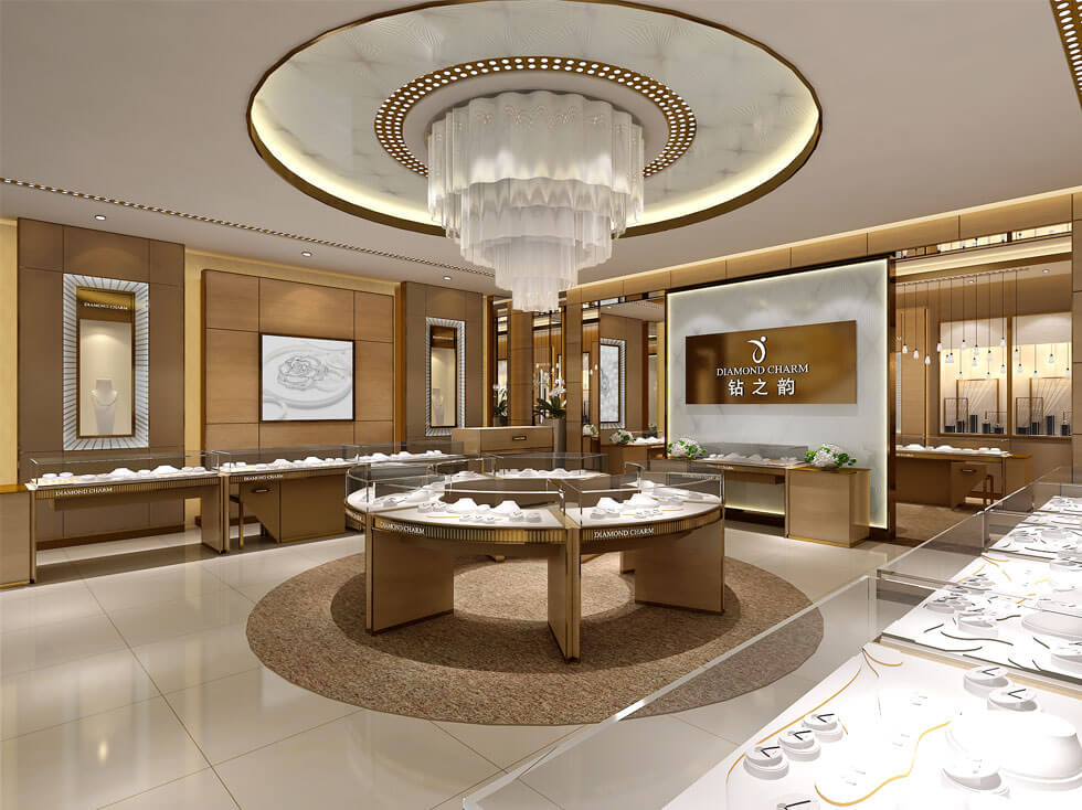 jewelry store design for diamond ring display