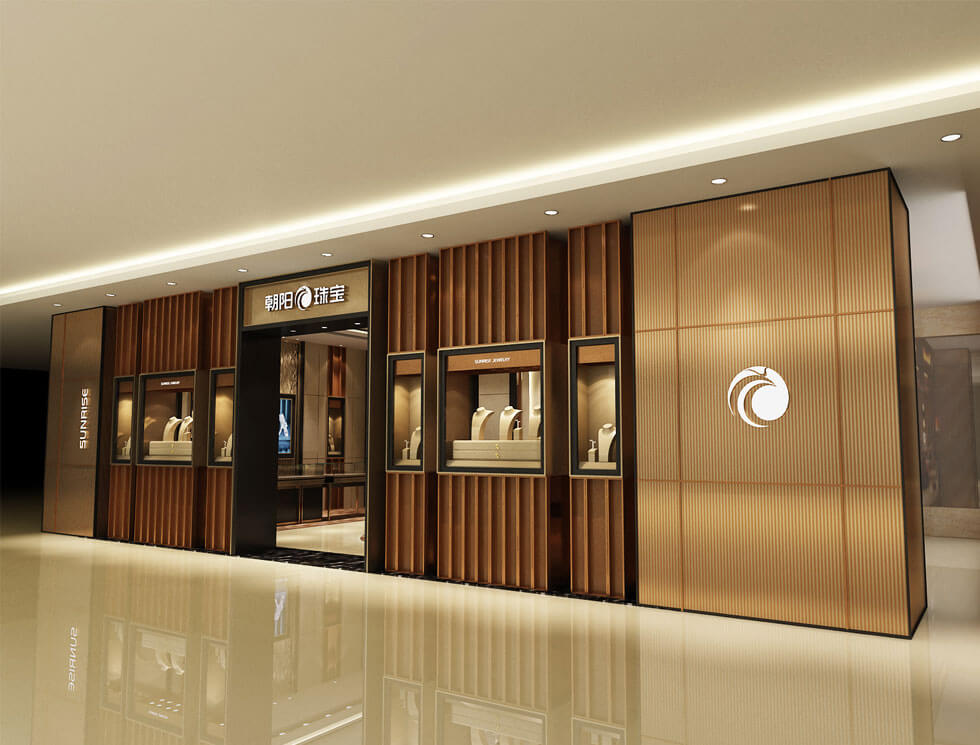 Jewelry store design for mall