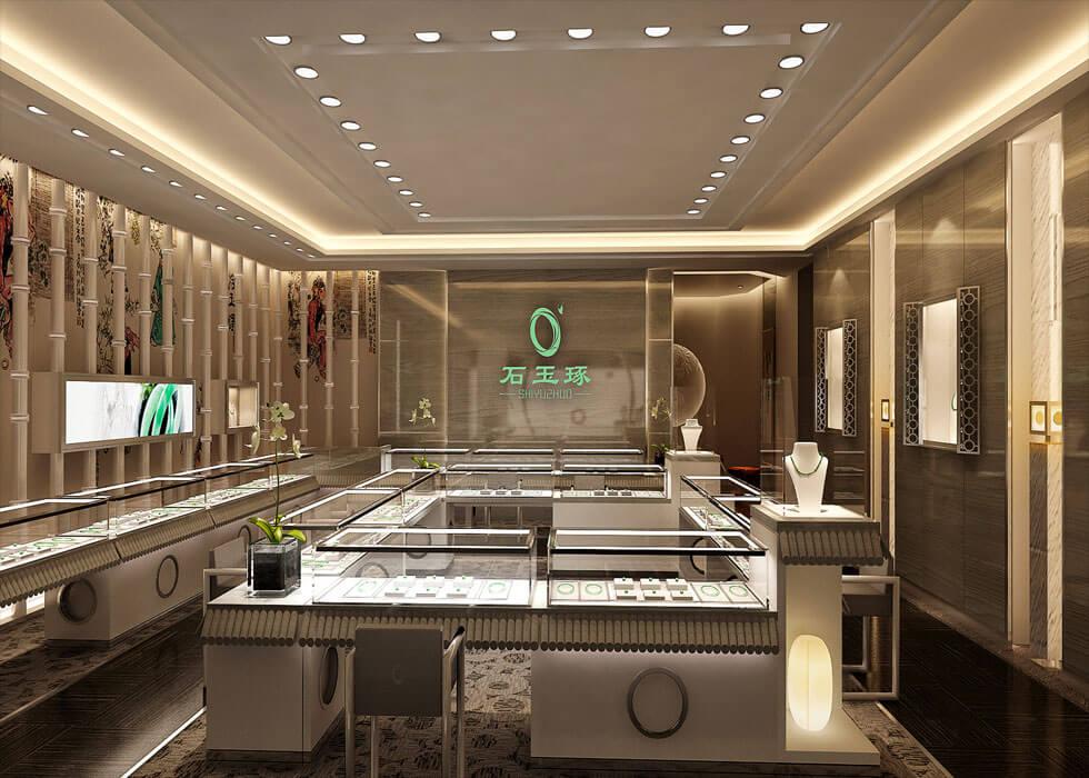 Luxury Jade Bracelet Jewelry Retail Shop Design