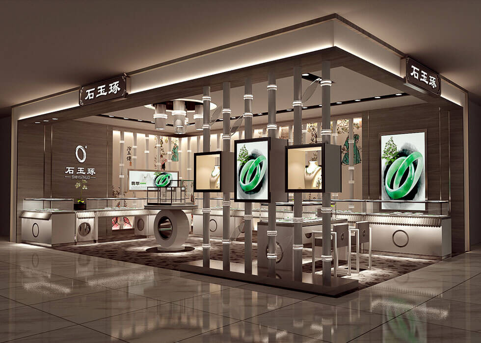 Luxury Jade Bracelet Jewelry Booth  Design