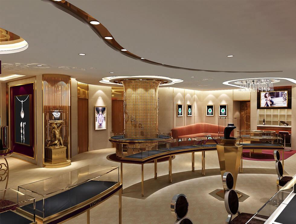 luxury retail jewelry store design