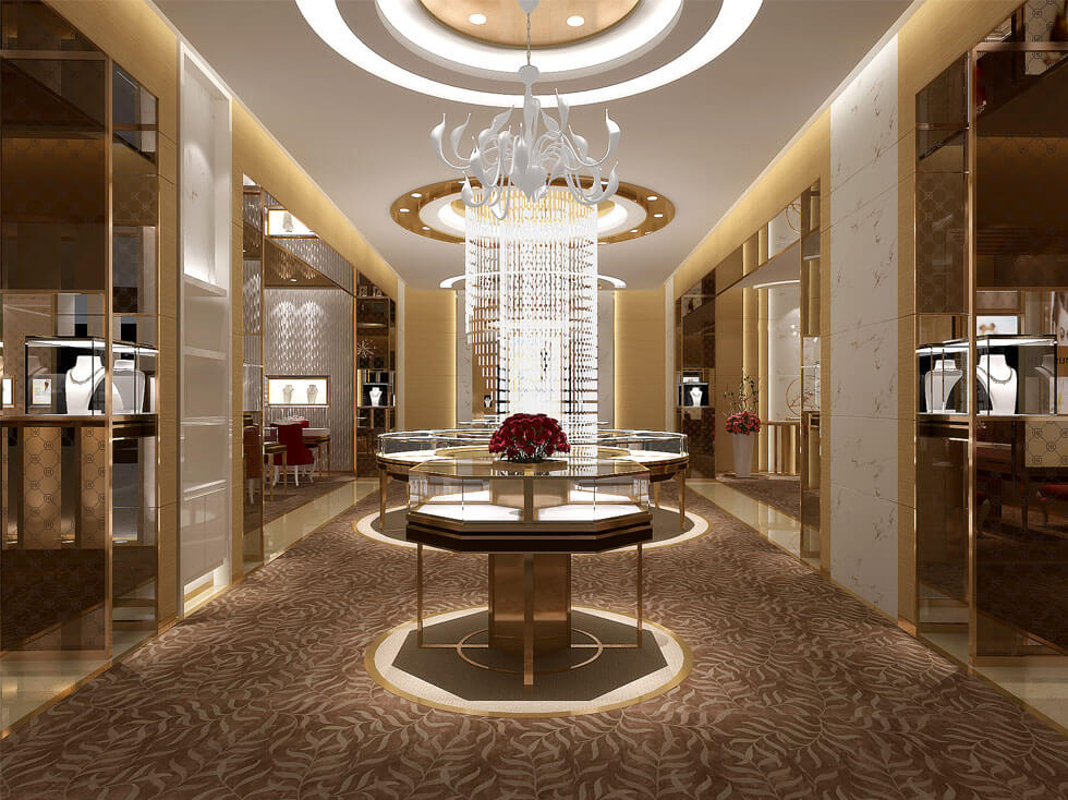 Luxury jewelry Retail store design