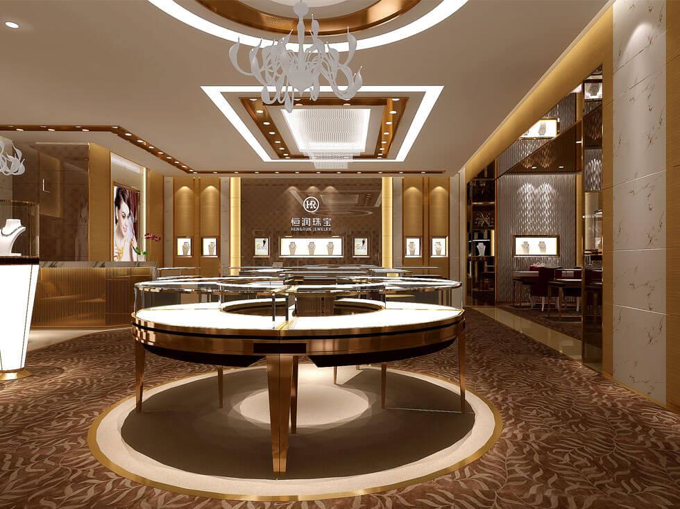 Luxury jewelry store fixtures design