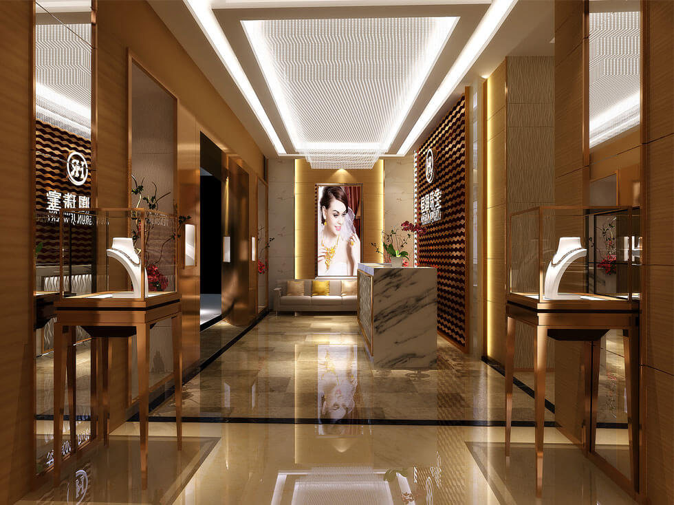 Luxury jewelry shopfitting design