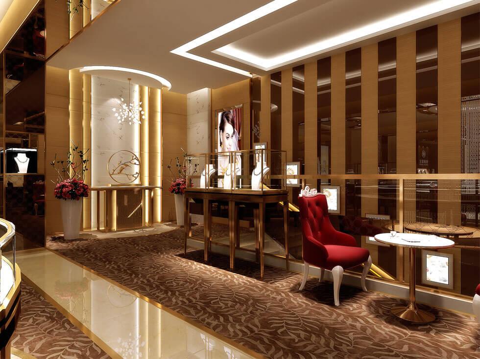 Luxury jewelry stands design