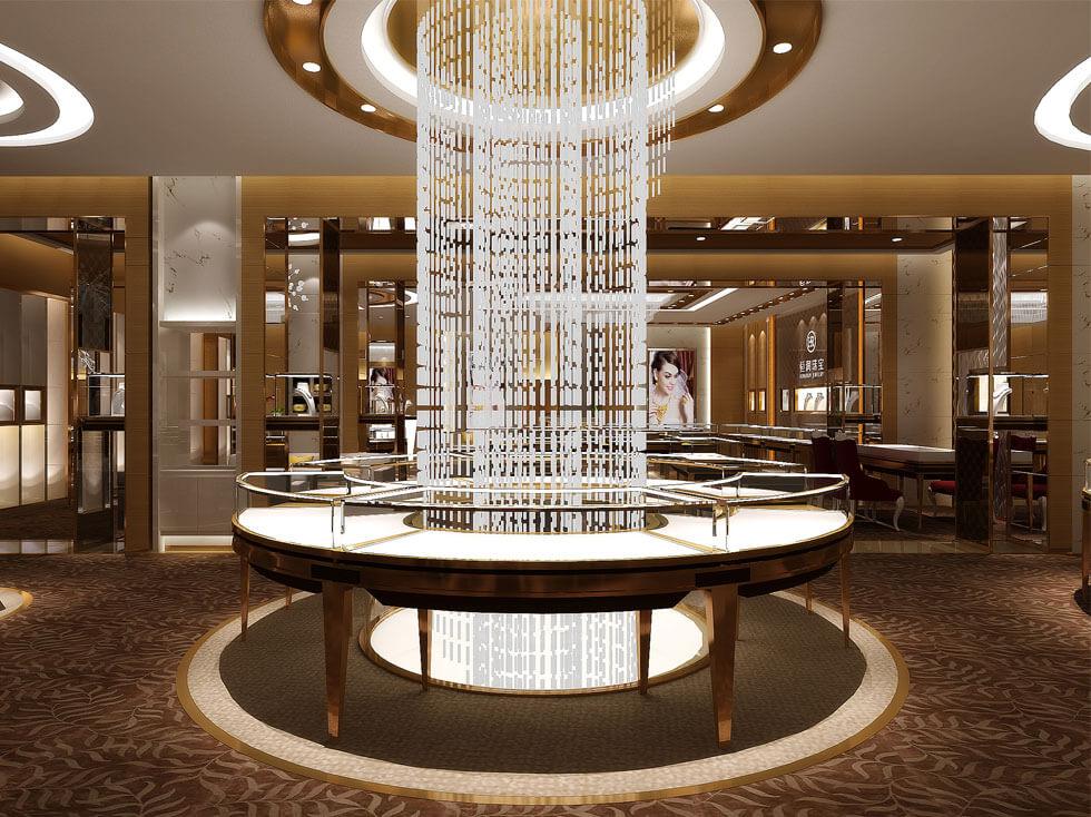 Luxury jewelry retail showcase design