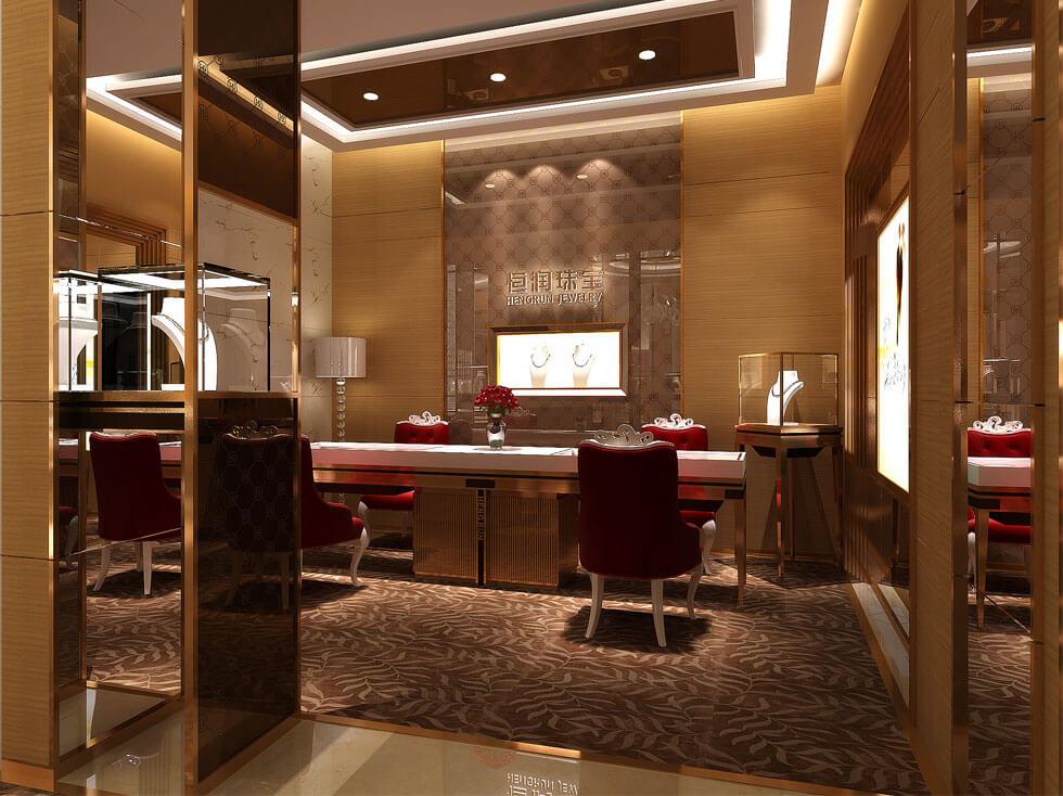 Luxury jewelry shop display design