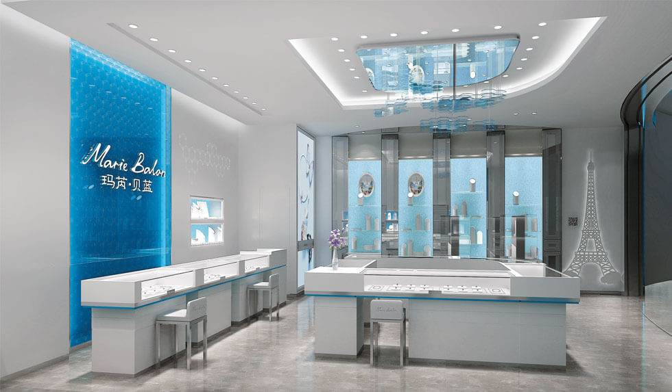 Jewelry Booth Design In Mall