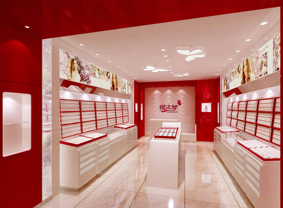 silver jewelry shop design