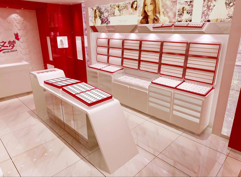 silver jewelry store design