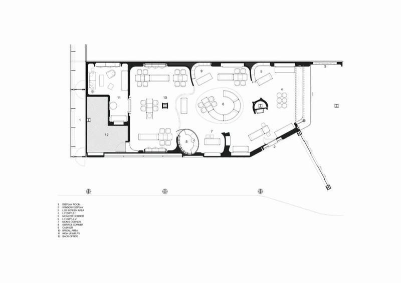 jewelry shop floor plan design