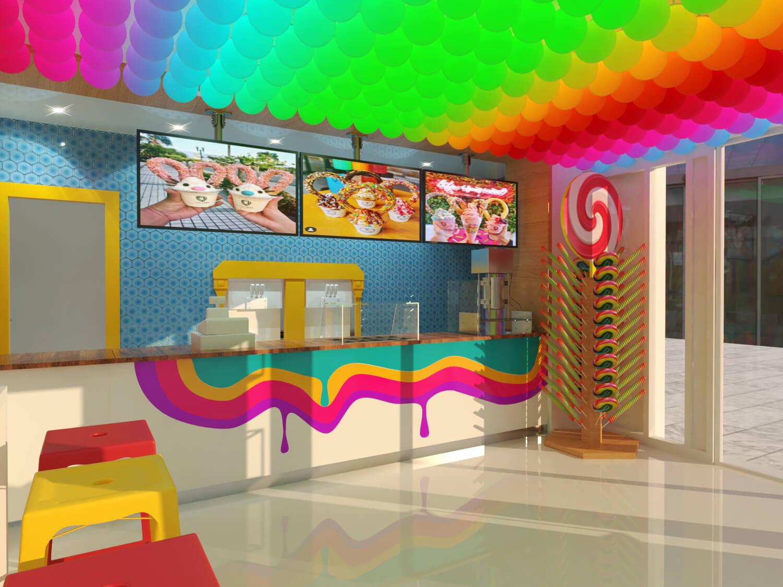 yogurt store order counter design