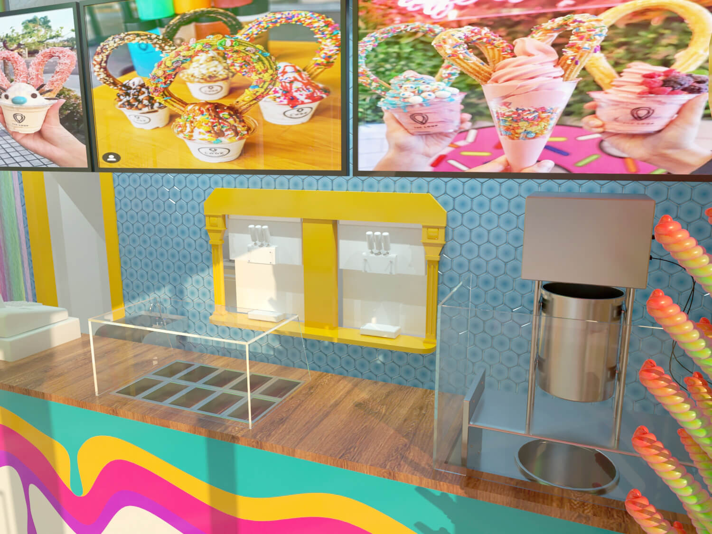 yogurt store topping counter design