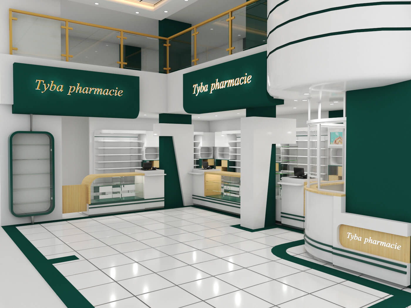Best quality for the pharmacy store display furniture shipped to Djibouti