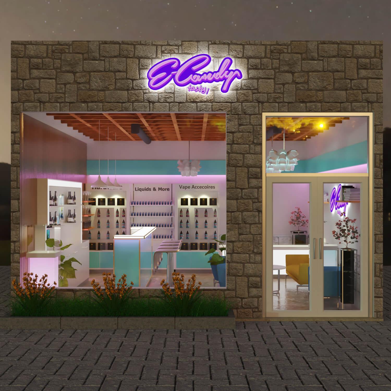 vape shop design