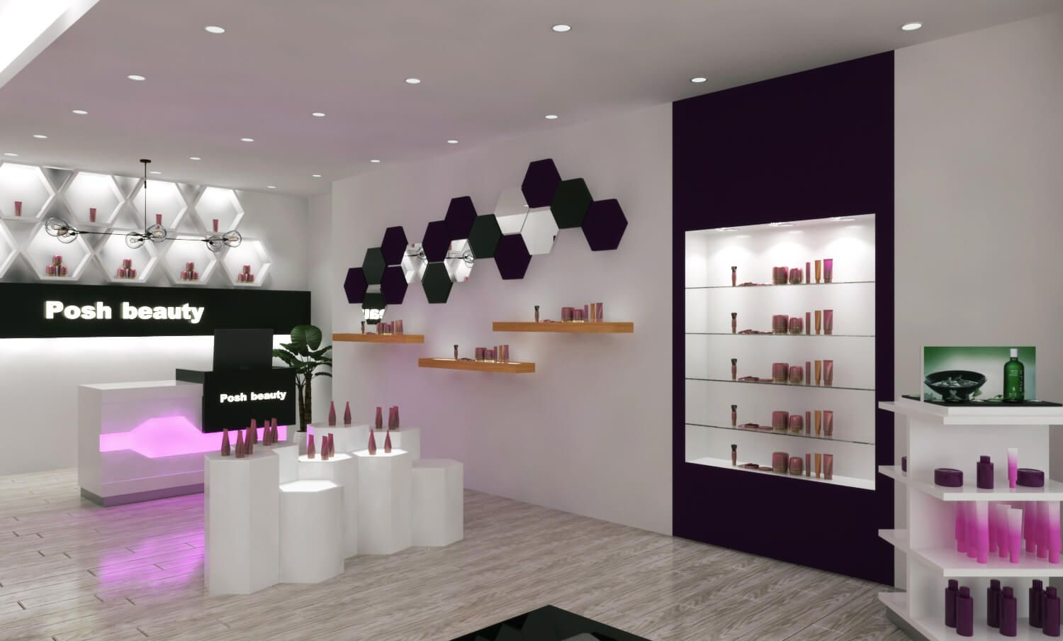 cosmetic shop design