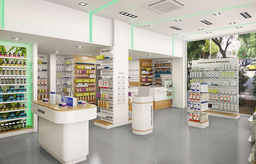 pharmacy shop interior design