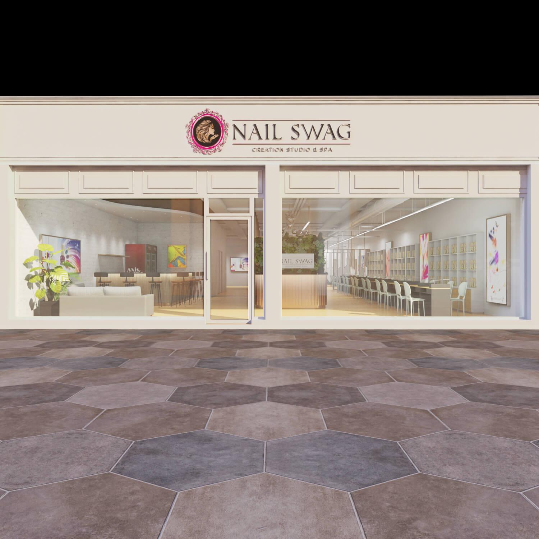 nail salon shop front design