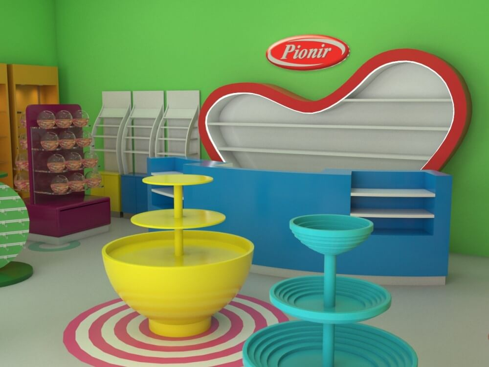 candy store display stand