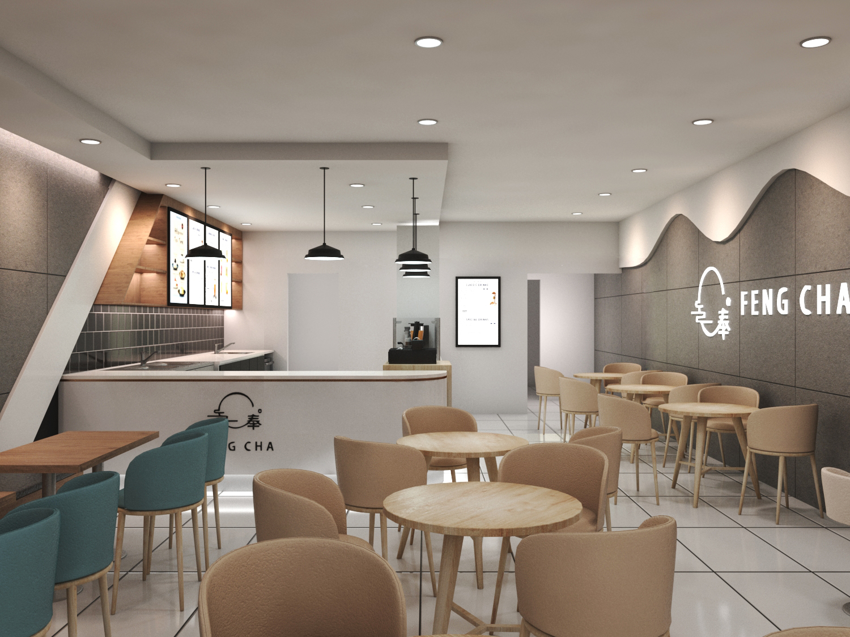 Customized Modern Bubble Tea Shop Design