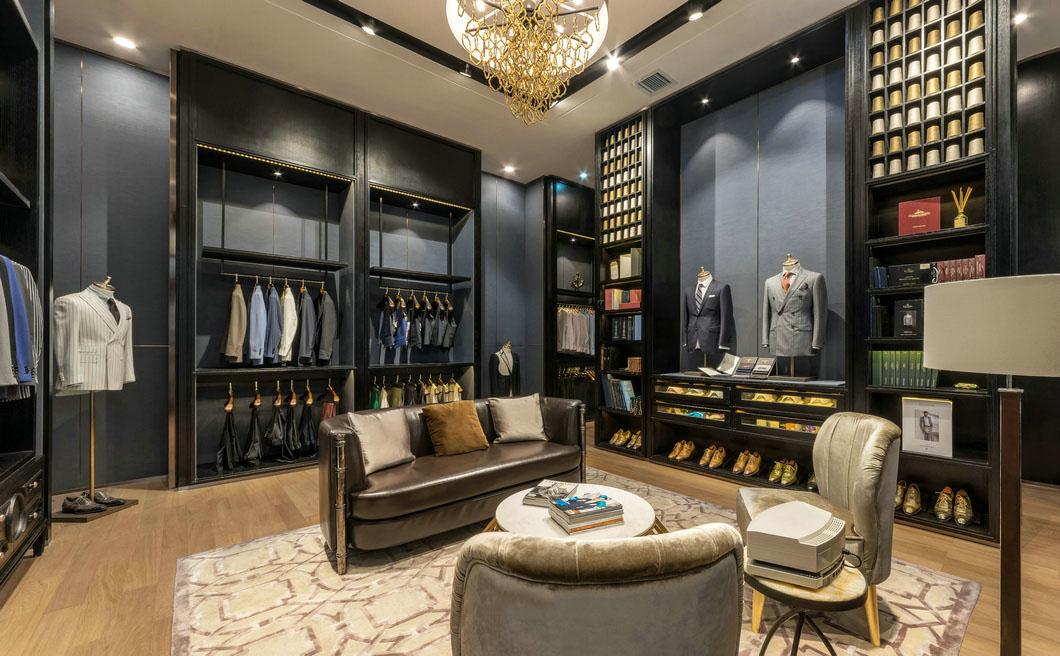 Clothing store design,  Business suit store, store interior design