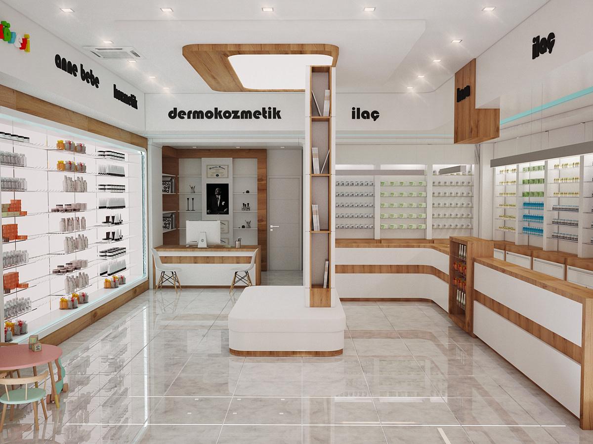 small medicine shop design