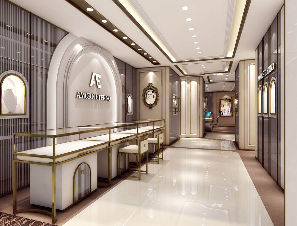 jewelry shop design for 2 storey
