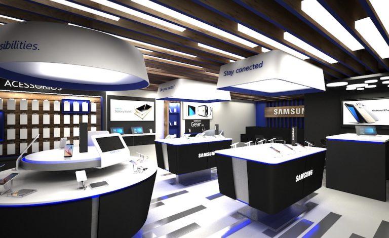 samsung showroom interior design